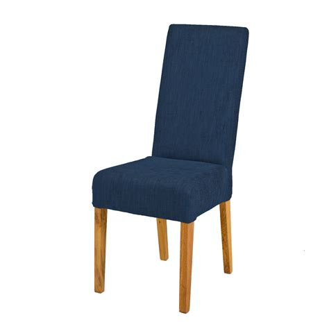 Jack Fabric Dining Chair Oak Legs Navy Blue Funique Co Uk Navy Blue Dining Chairs