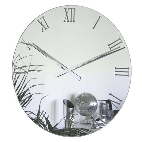 roco verre extra large roman mirror clock