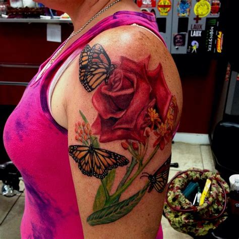 butterfly rose tattoo from best ink top 25 best and butterfly ideas on