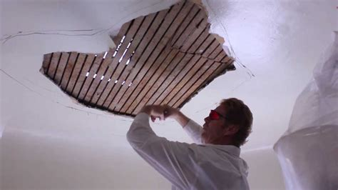 teaching internal rendering plaster ceiling repairs youtube