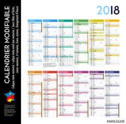 Calendrier 2018 6 Mois Quot Calendrier 2018 Sur 12 Mois Modifiable Avec Calques