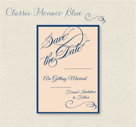 classic beautiful free printable save the date cards