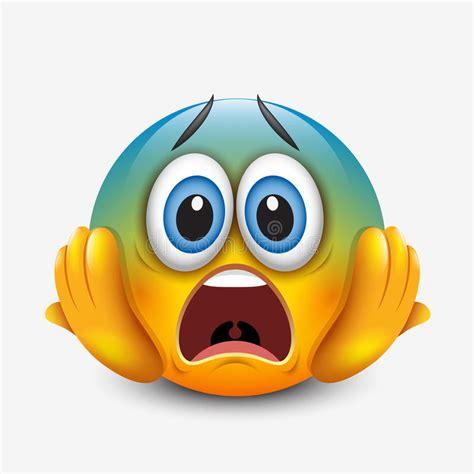 imagenes de emoji asustado emoticon asustado que lleva a cabo la cabeza emoji