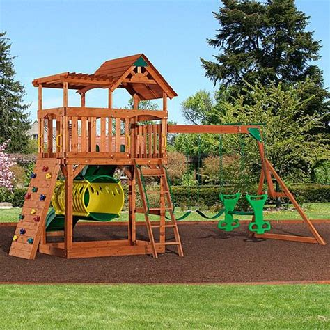 wooden gym sets backyard 17 best images about swing set ideas on pinterest play