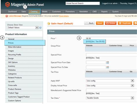 magento layout catalog product view magento how to show product price including tax on