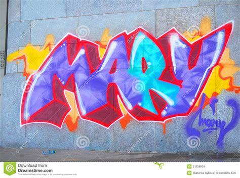 Draw Plans graffiti mary editorial stock image image of grunge