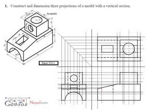 engineering drawing tutorial geniusnepal