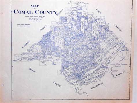 where is new braunfels texas map comal county texas land office owner map new braunfels schertz bulverde ebay