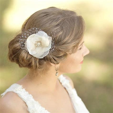 Wedding Hair Flower Pieces by Wedding Hair Flower Fascinator Wedding Hair Bridal