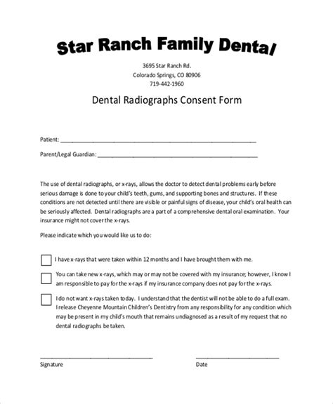 Sle Dental Consent Forms 10 Free Documents In Pdf Dental Treatment Consent Form Template