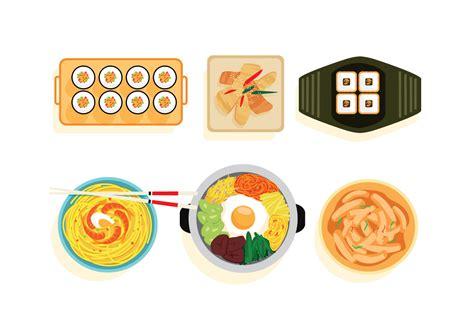 food vector korean food vectors download free vector art stock