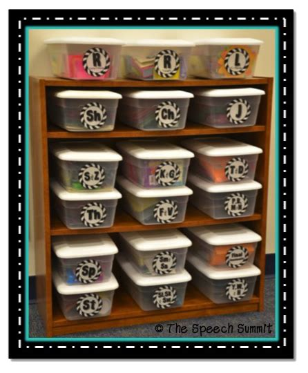 organize and thrive speech room style