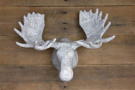 How To Make Paper Mache Animal Heads - medium paper mache animal sculpture moose by