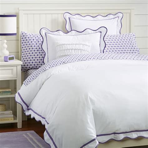 scalloped coverlet vienna scallop duvet cover sham pbteen
