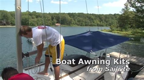 how to make a boat awning boat awning kits demonstration youtube