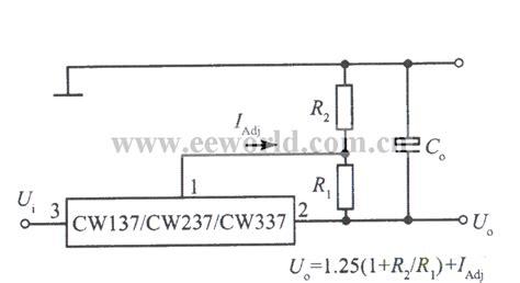 integrated circuit ic voltage regulators standard application circuit of three terminal adjustable negative output voltage integrated
