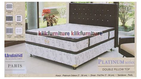 Kasur Bigland Platinum harga springbed uniland platinum pillowtop