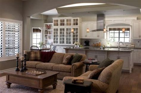 kitchen and family room designs kitchen family room open and lovely home decor