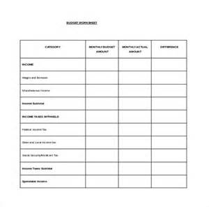 Monthly Budget Planner Template Free Download Budget Spreadsheet Template 3 Free Excel Documents