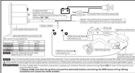 faq how do i hook up my tachometer marshall instruments help with koso tach wiring kawasaki vulcan forum