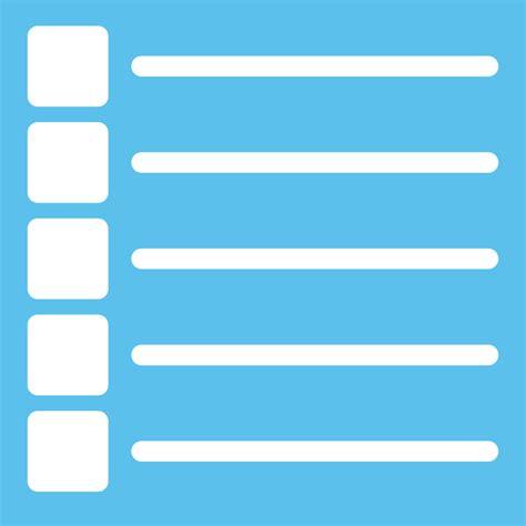 list clipart clipart list icon