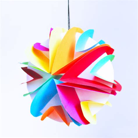 Objects With Paper - easy planet craft for 3d paper planets