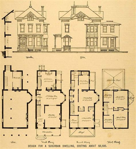 house plans for mansions old queen anne house plans vintage victorian house plans