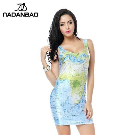 buy nadanbao bandage dresses world map