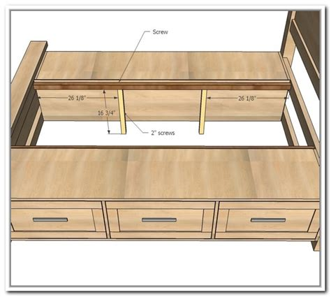 Queen Platform Bed With Storage Drawers Plans Queen Size Platform Bed With Storage Drawers Home Design