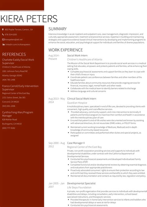social worker resume templates magazine editorial resume baby