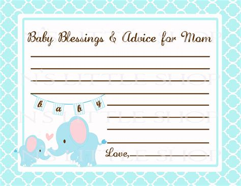 templates for baby shower advice cards 7 best images of mom advice cards free printable owl