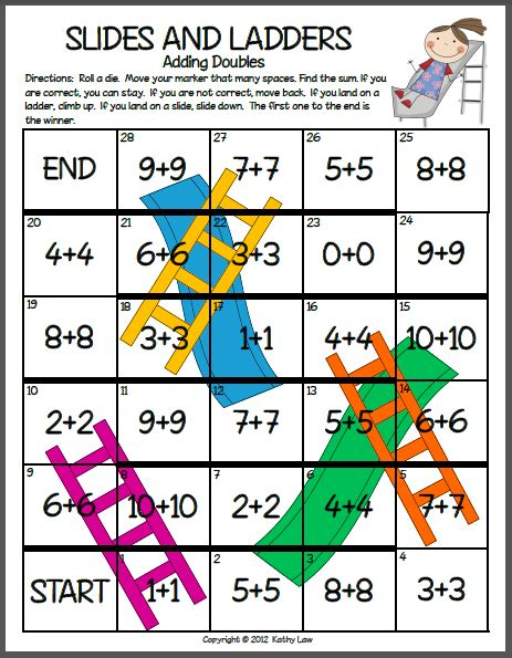 printable doubles games classroom freebies