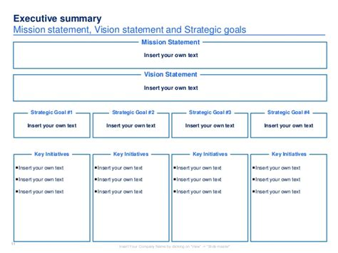 strategic plan template strategic plan template
