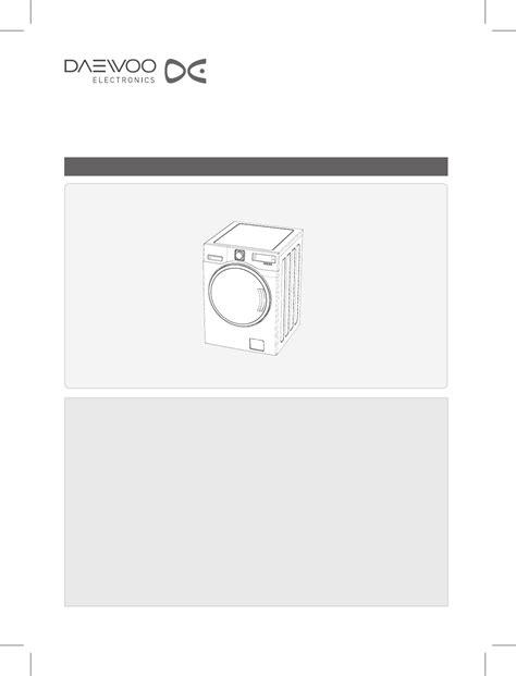 Daewoo Washer Dwd Ld141x User Guide Manualsonline Com