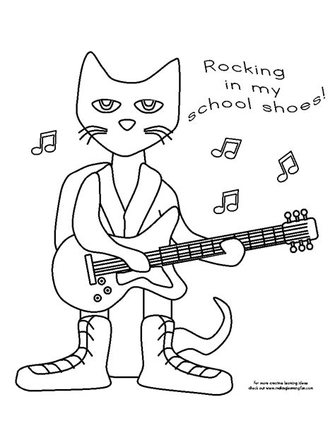 Free Coloring Pages Of Shoes For Pete The Cat Pete The Cat Coloring Printable