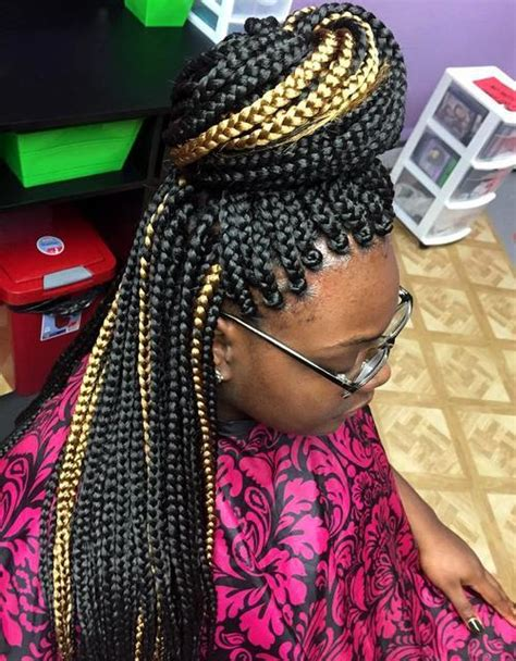 Large Box Braids Hairstyles by 20 Best Looks Featuring Big Box Braids And Their Up
