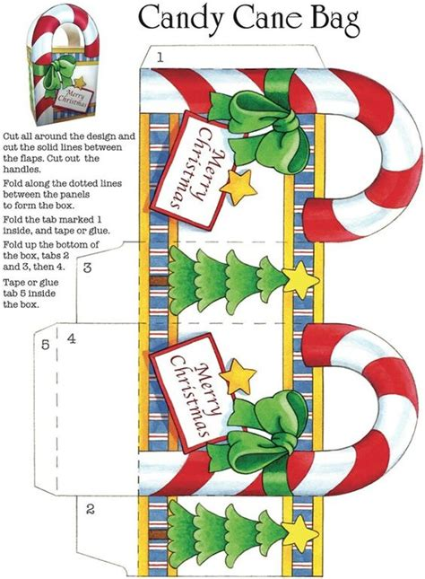 candy cane bag template stencils and templates