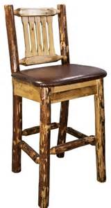 Rustic Bar Stools With Back Glacier Country Barstool With Back Upholstered Seat