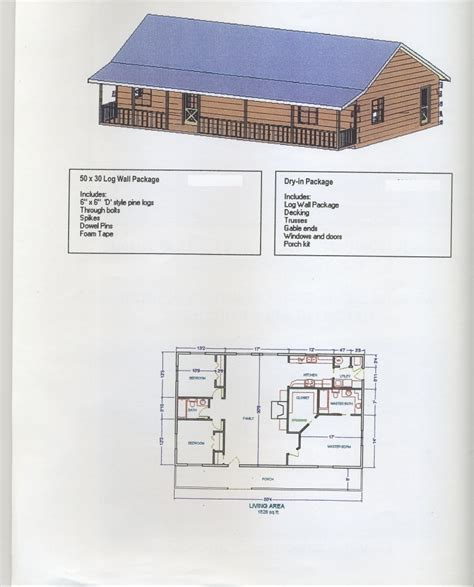 30x50 House Design by 50x30plan Carpenter Log Homes Plans On 30x50 Home Floor