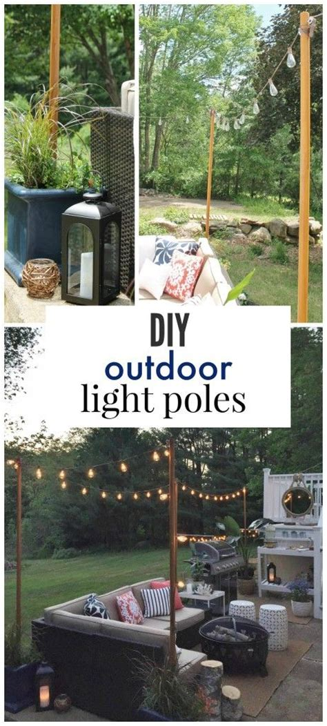 Patio Light Pole Diy Outdoor Light Poles Pits Lighting And Backyards