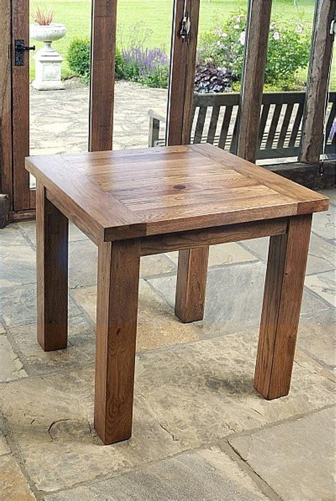 Oak Square Dining Table Rustic Oak Square Dining Table 80x80cm