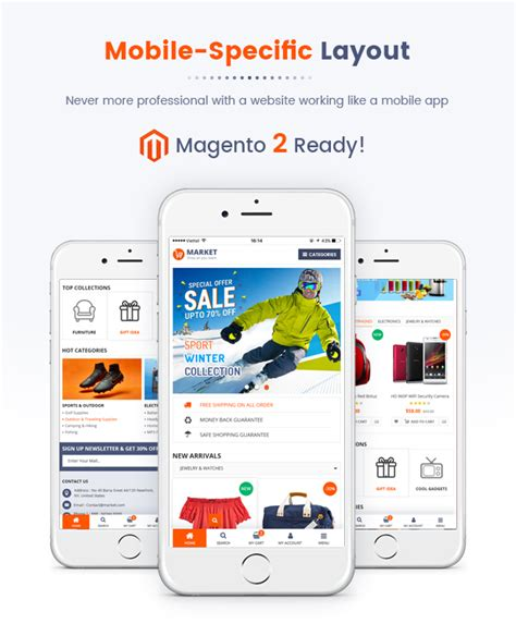 layout homepage magento market premium responsive magento 2 and 1 9 store theme
