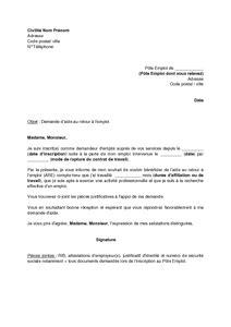 lettre de demande d emploi au maire employment application