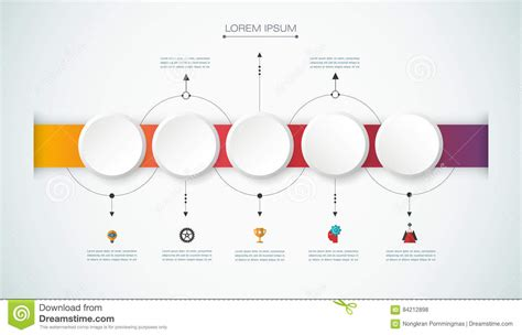 How To Make A 3d Timeline On Paper - vector infographic timeline with 3d paper label