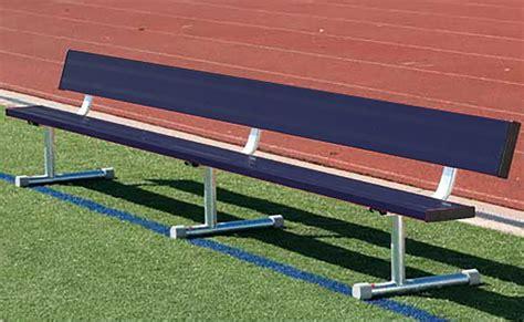 aluminum sport benches aluminum player bench powder coated w backrest