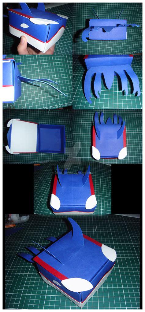 Kyogre Papercraft - origami box kyogre by mariakoch on deviantart