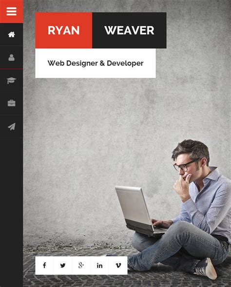 divergent personal vcard resume html template free divergent premium responsive vcard resume html5 template