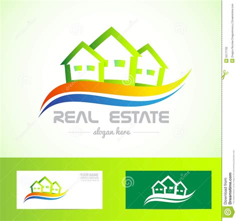 green house real estate real estate green house logo stock vector image 55177702