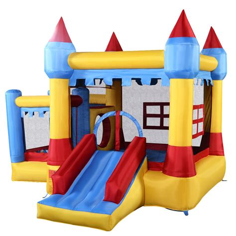 bounce house for kids goplus inflatable bounce house castle commercial kids jumper moonwalk with ball ebay