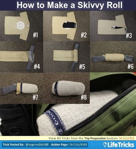 skivvy roll 50 best travel hacks tricks and tips images on